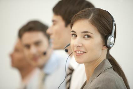 Telefonservice-Mitarbeiterin