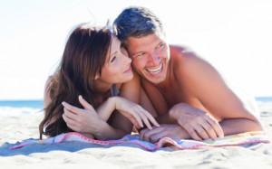 summer beach couple