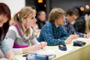 Stutenden in der Vorlesung