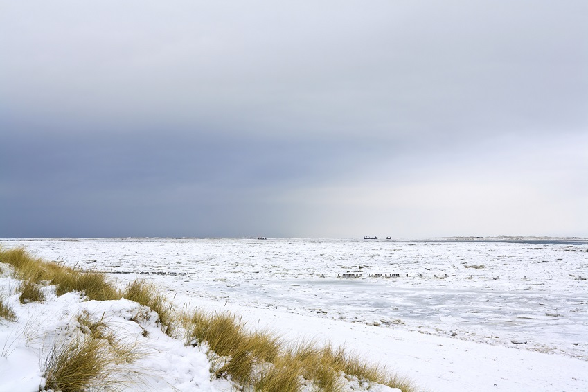 Nordseestrand im Winter