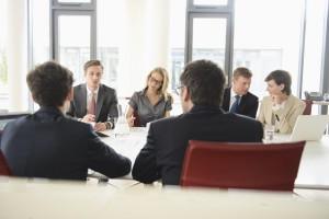 Geschäftskollegen beim Meeting