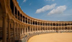 Traditionsreiches Bauwerk: Die Stierkampfarena von Sevilla